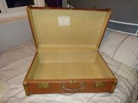 Large Vintage Suitcase - coffee table? Shabby chic