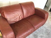 Brown Leather Sofa 1pc