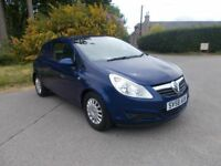 *NO VAT*2008 58 VAUXHALL CORSA 1.3 CDTI ECO FLEX VAN *NO VAT* IN METALLIC BLUE CALL 07791629657