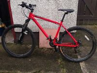 2009 Red Carrera Vulcan 18inch Disc spec mountain Bike (house collection Only)