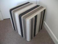 Brown stripe Next cushion cube