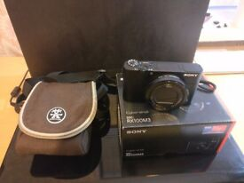 SONY RX100 M3 MK III - CARRY CASE - BOXED IN PERFECT CONDITION - 9 MONTHS WARRANTY - RX100M3