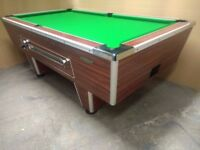 Superleague 7x4 Slate Bed Ex Pub Pool Table Including Local Delivery & Installation