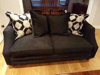 Black 3 piece Sofa Suite - Like New Very Nice