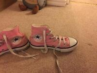Girls pink converse size 12.5