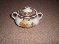 Palissy Game Series Sugar Bowl in excellent condition.