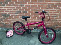 "Kids BMX Bike 20"" wheels with Bell Helmet included"