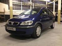2004 Vauxhall Zafira 1.6 7 Seater Drives Superb. Low Miles. Mpv