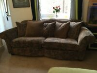 2 seater sofa (large) with 5 feathered filled scatter cushions
