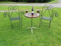 Wine/Drinks Table With Chrome Legs