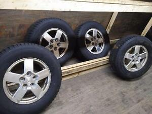 CHEVROLET EQUINOX ALLOY OEM WHEELS AND WINTER TIRES. 2005 TO 2009 ALLOY 235/70R/16 ** COMPLETE SET OF FOUR **