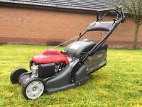 Honda HRX426CQXE Self Propelled Petrol Lawnmower Mower With Rear Roller