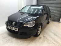 2009 VW VOLKSWAGEN POLO 1.2 PETROL 5 DOOR FULL SERVICE 2 KEYS LONG MOT ONE OWNER FROM NEW