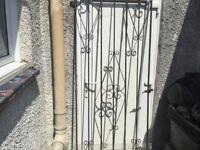 Steel gate for alleyway