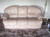 LEATHER SUITE 3 seater settee and chair