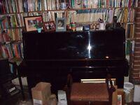 UPRIGHT PIANO - BLACK LAQUERED