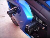 TRIUMPH SPRINT ST1050 R & G CRASH PROTECTORS DOUBLE BOBBIN RAIL TYPE THE EXPENSIVE ONES