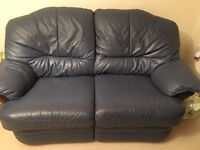 3 piece leather suite with integrated recliners