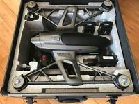 NEW Yuneec Q500 4K Drone, Steady Grip, 2 x Batteries, ST10+ Transmitter, Charger, Case NEW UNUSED