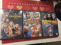 WWE Pay Per View DVD's 2016 x 3