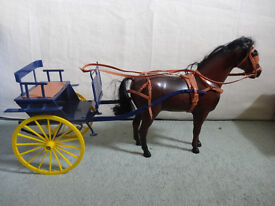 Vintage Sindy Doll Horse and Carriage - 1980s