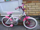 "GIRLS 16"" WHEEL BIKE IN GOOD WORKING CONDITION AGE 5+"