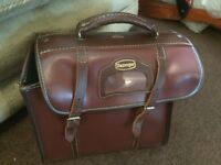 Tyrolite ralph taylor and co ltd lawn set bowls/ leather Slazenger bowls bag beautiful condition