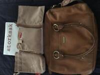 Storksak Elizabeth Tan Leather Changing Bag