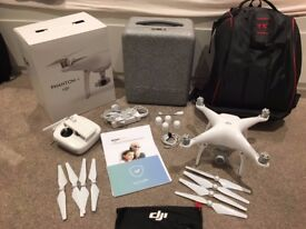 DJI Phantom 4 Drone Mint condition - 2 1/2 year accidental damage and theft warranty included!