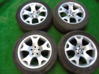 "BMW X5 19"" ALLOY WHEELS WITH TYRES ( OU REF 015 )"