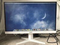 Acer monitor 22 inch LCD white Model G227HQL
