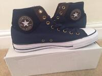 Brand new Converse midnight blue high-tops/Trainers Size 11 eur 45