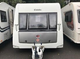 Elddis supreme 574 2014 4 berth fixed single beds touring caravan