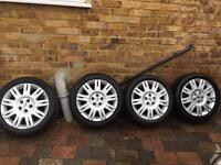 Ford Focus Alloy Wheels And Tyres 5 stud 5x108 Mondeo Transit Connect 205/50/17