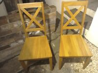 Next solid oak chairs x 6