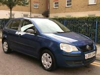 Vw polo 1.2 e 5 door hatchback met blue 1 year mot