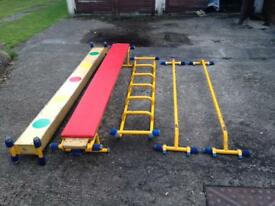 Gym Bars, Bench, Beam, Ladder