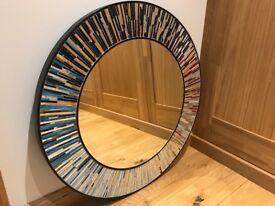 Roulette PIAGGI multicolour glass mosaic mirror