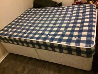 Double divan mattress and base