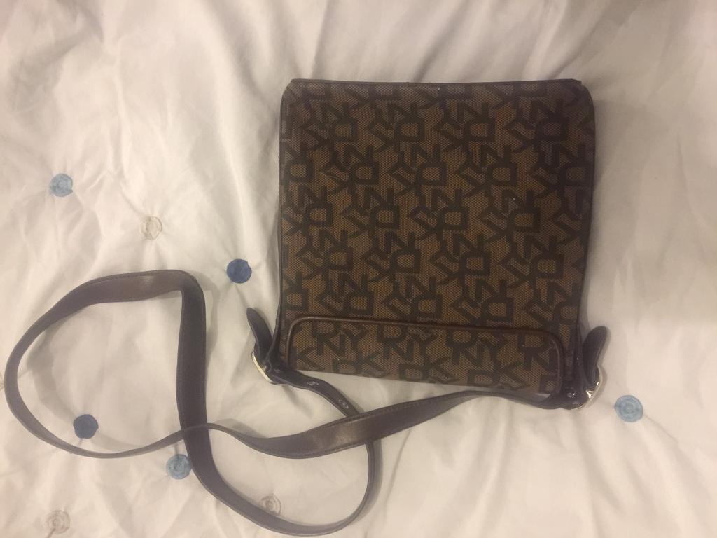 Authentic New unisex DKNY messenger bag