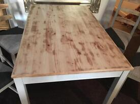 Retro Chic Ikea dining table & four chairs