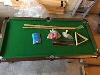 4ft snooker table with accessories