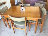 1960s-1970s GENUINE TABLE AND CHAIRS FREE DELIVERY LDN🇬🇧EXTENDABLE