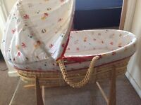 Moses Basket with Stand-Very good condition