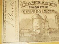1846 DR. TRASKS MAGNETIC OINTMENT LABEL