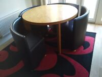 Rotunda by Dwell round Dining Table and Chairs
