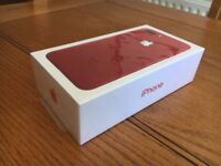 APPLE IPHONE 7 PLUS 128GB RED BRAND NEW BOXED COMES WITH 12 MONTHS APPLE WARRANTY & RECEIPT