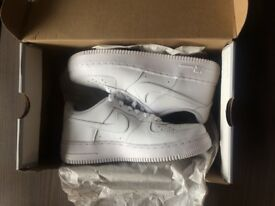 New condition Nike Air Force 1 (unisex) Trainers in white, in boxing