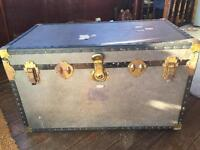 Vintage steamer travel trunk