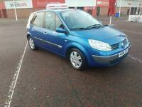 2006 RENAULT MEGANE SCENIC PETROL 6 SPEED, IN BLUE WITH A LONG M.O.T